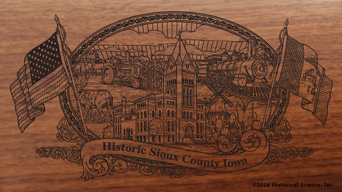 Sioux County Iowa Engraved Rifle