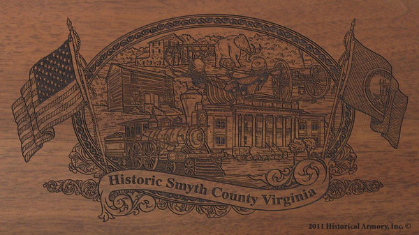 smyth county virginia engraved rifle buttstock