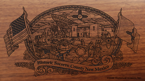 Socorro County New Mexico Engraved Rifle