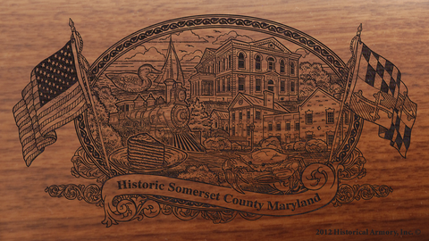 Somerset County Maryland Engraved Rifle