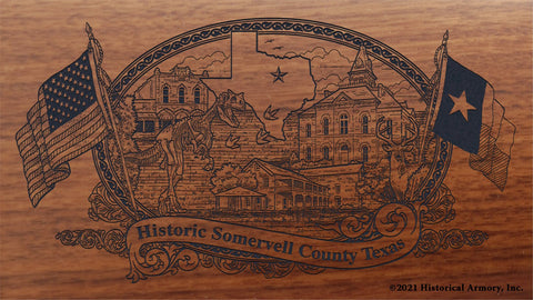 somervell county texas engraved rifle buttstock