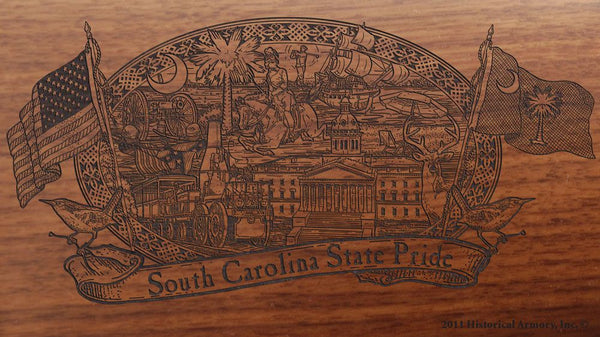 south carolina state engraved rifle buttstock