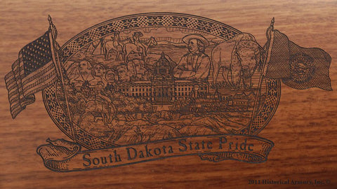 south dakota state engraved rifle buttstock