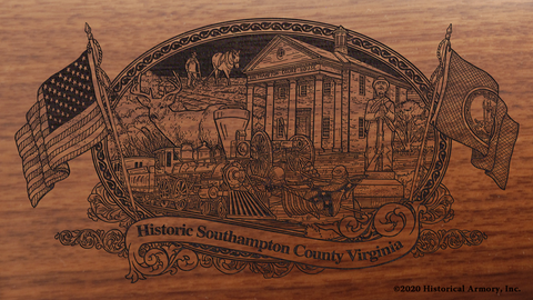 Southampton County Virginia Engraved Rifle