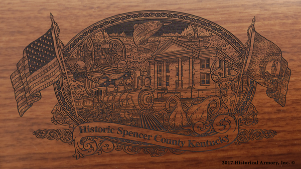 Spencer County Kentucky Engraved Rifle