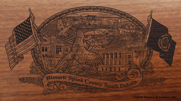Spink County South Dakota Engraved Rifle