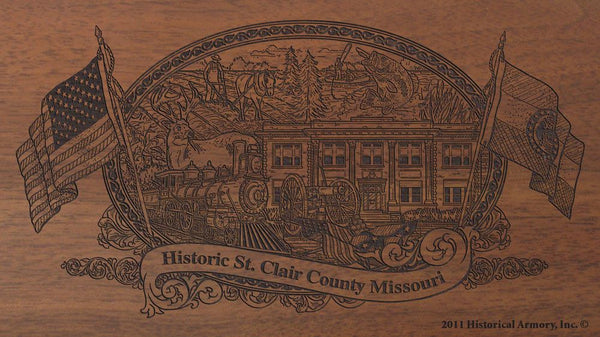 St. Clair County Missouri Engraved Rifle