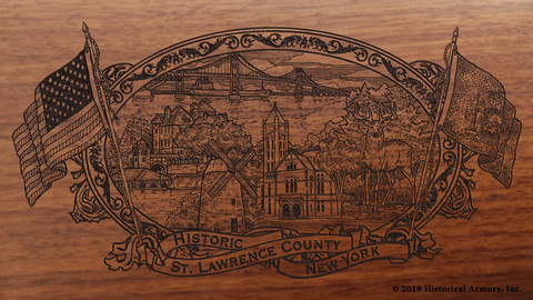 St. Lawrence County New York Engraved Rifle