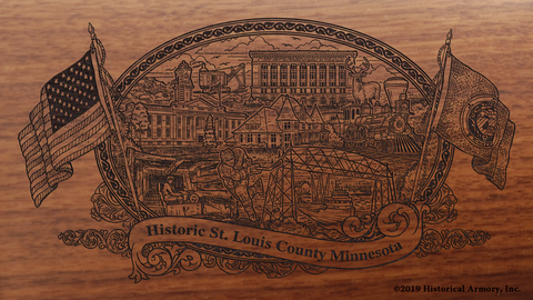St. Louis County Minnesota Engraved Rifle
