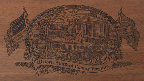 stafford county virginia engraved rifle buttstock