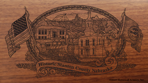 Stanton County Nebraska Engraved Rifle