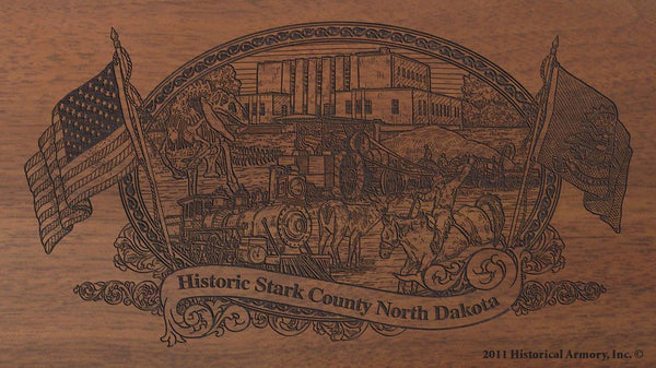 stark county north dakota engraved rifle buttstock