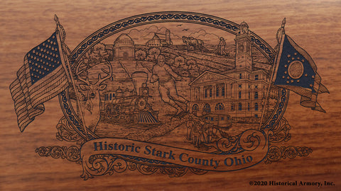 Stark County Ohio Engraved Rifle Buttstock