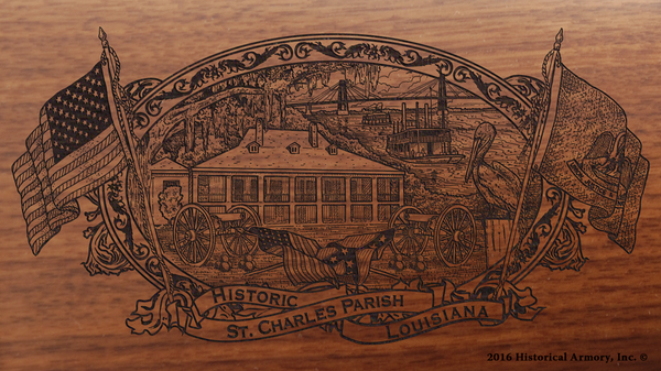 St. Charles Parish Louisiana Engraved Rifle