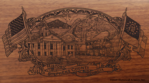 Stephens County Georgia Engraved Rifle