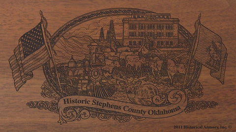 stephens county oklahoma engraved rifle buttstock