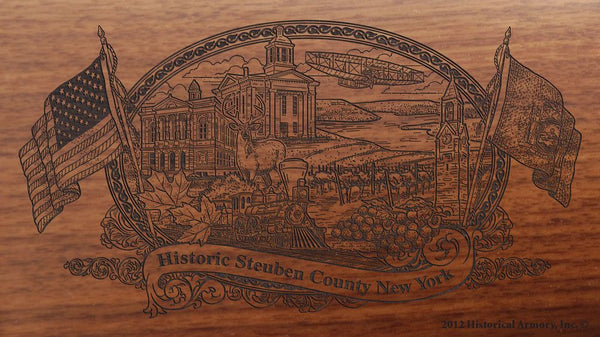 steuben county new york engraved rifle buttstock