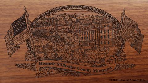 Stillwater County Montana Engraved Rifle