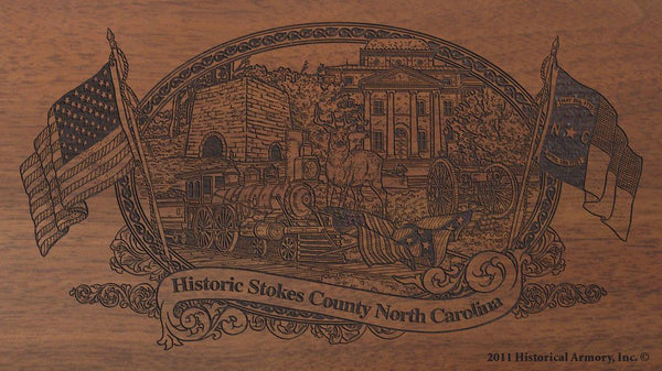 stokes county north carolina engraved rifle buttstock