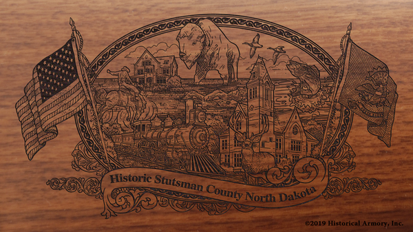 Stutsman County North Dakota Engraved Rifle