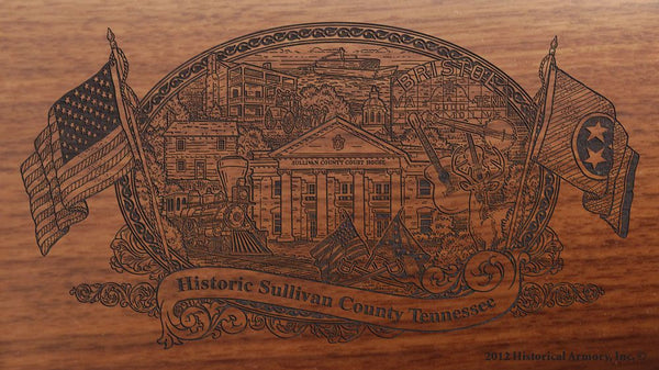 sullivan county tennessee engraved rifle buttstock