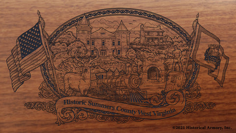 Summers County West Virginia Engraved Rifle Buttstock