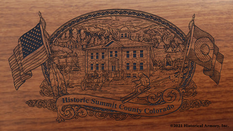 Summit County Colorado Engraved Rifle Buttstock
