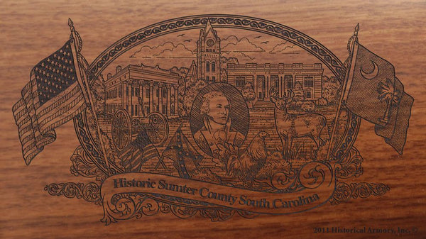 sumter county south carolina engraved rifle buttstock