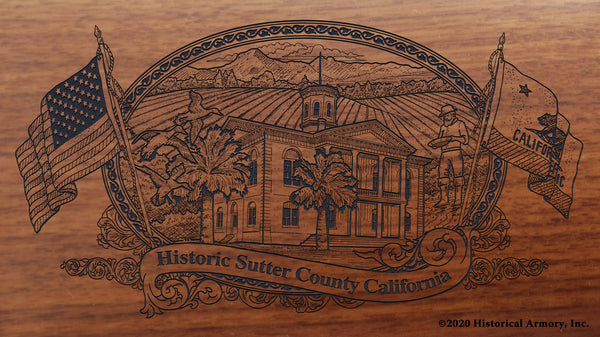 Sutter County California Engraved Rifle Buttstock