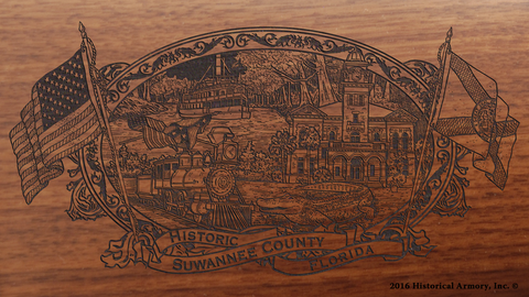 Suwannee County Florida Engraved Rifle