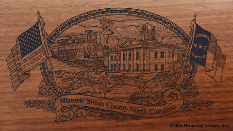 Swain County North Carolina Engraved Rifle Buttstock