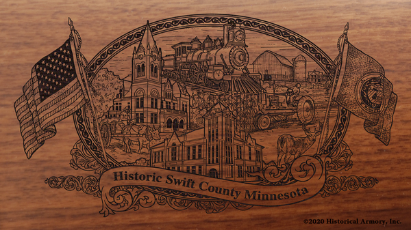 Swift County Minnesota Engraved Rifle