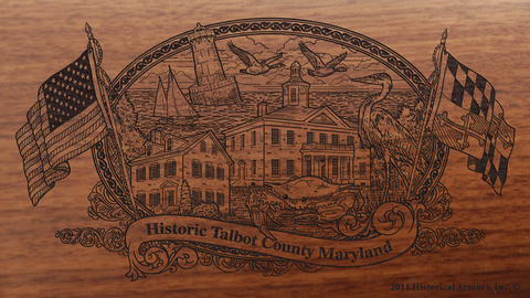 Talbot County Maryland Engraved Rifle