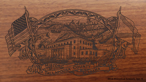 Tallapoosa County Alabama Engraved Rifle