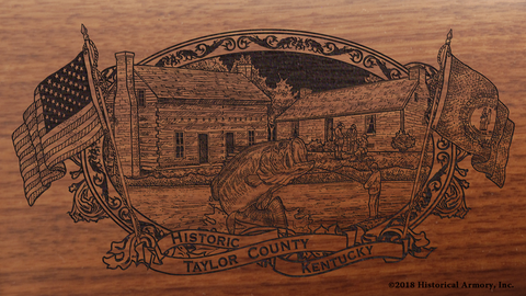 Taylor County Kentucky Engraved Rifle