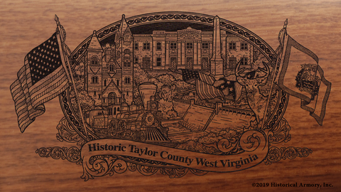 Taylor County West Virginia Engraved Rifle