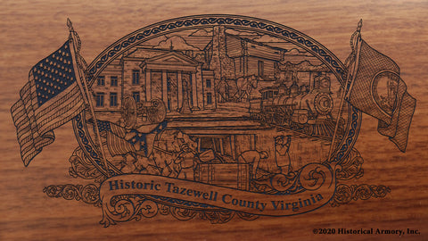 tazewell County Virginia Engraved Rifle Buttstock