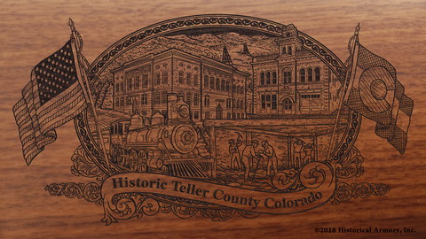 Teller County Colorado Engraved Rifle
