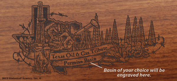 Texas State Oil & Gas Tribute Limited Edition Engraved Rifle