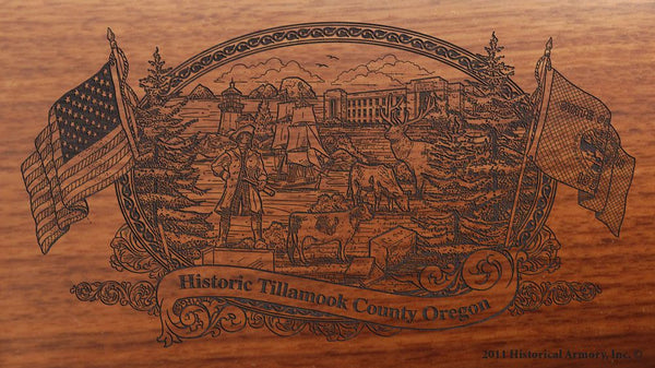 tillamook county oregon engraved rifle buttstock