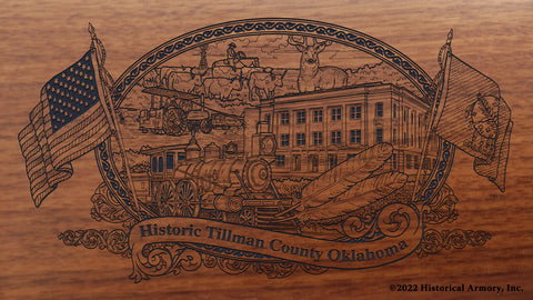 tillman county oklahoma engraved rifle buttstock