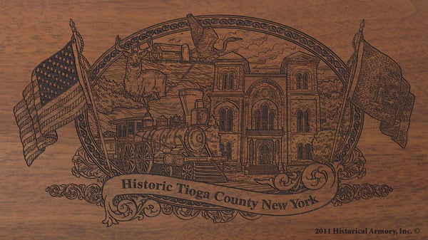 tioga county new york engraved rifle buttstock