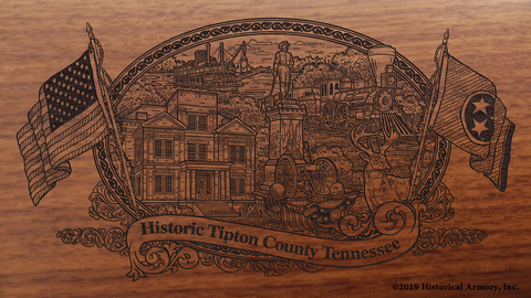 Tipton County Tennessee Engraved Rifle