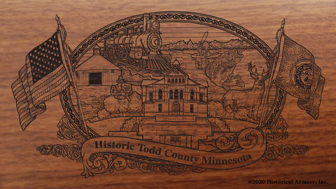Todd County Minnesota Engraved Rifle