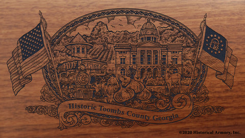 Toombs County Georgia Engraved Rifle Buttstock