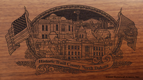 Traill County North Dakota Engraved Rifle