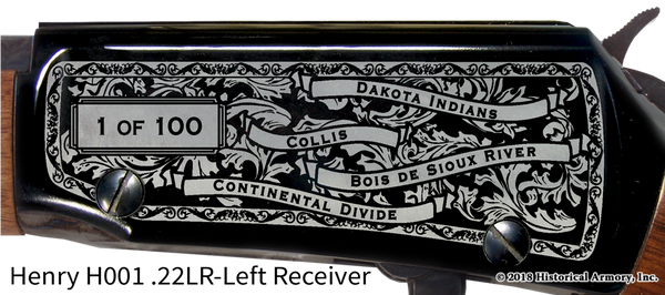 Traverse County Minnesota Engraved Rifle