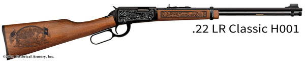travis county texas engraved rifle h001