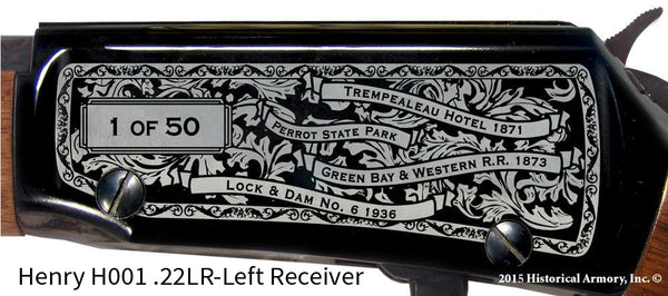 Trempealeau County Wisconsin Engraved Rifle