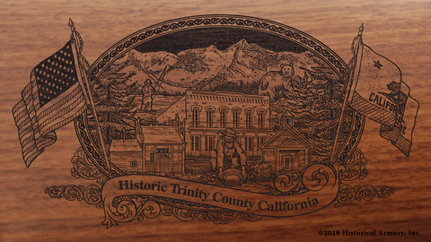 Trinity County California Engraved Rifle